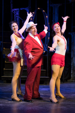 Kathleen LaMagna, Greg Horton, and Mandarin Wu in FOLLIES. Photo by Michael Dekker.​​
